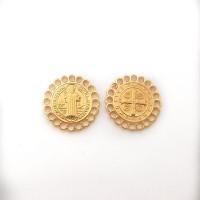 Entrepieza zamak dorado medalla religion San Benito 20 mm
