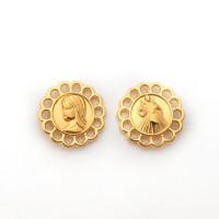 Entrepieza zamak dorado medalla religion virgen 15 mm