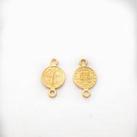 Entrepieza zamak dorado medalla religion San Benito 10 mm