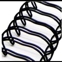 Wire encuadernacion- Espiral negra 5/8  (1.6cm) - 1 ud