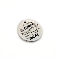 En este curso tan especial has sido un profe  ideal - Colgante zamak baño plata 19 mm (ZC432X)