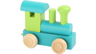 Articulo bebe - Tren de Letras - Locomotora verde-turquesa 6x3x5.5 cm