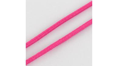 Cordon elástico redondo 2 mm color fucsia   ( 1 metro)