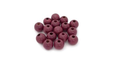 Bolsita 20 bolitas de madera antibaba 8 mm - Color Violeta 32