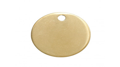 Moneda chapita de acero Dorado lisa, ideal grabar 20 mm