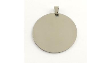 Colgante acero inoxidable moneda grande 42x42x1 mm