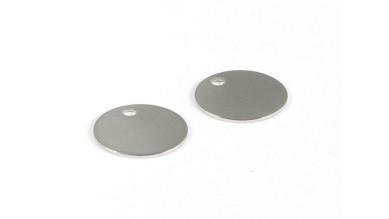 Moneda chapita de acero lisa, ideal grabar 12 mm