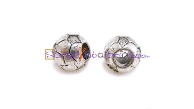 Balon de futbol 10x10 mm, taladro 5 mm