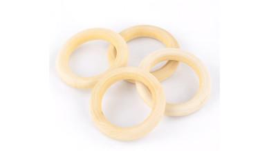 Aros de madera natural para manualidades - Tamaño 56 mm