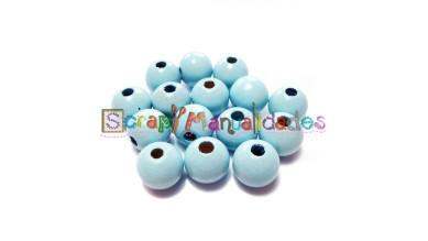 Bolita de madera antibaba 15 mm - Color Azul Bebe 18