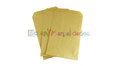 Bolsa de papel 8x13 cm color kraft ( 10 uds)