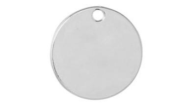Base de estampacion chapita plateada silver 24 mm -