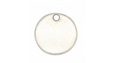 Base de estampacion chapita plateada silver 19 mm -