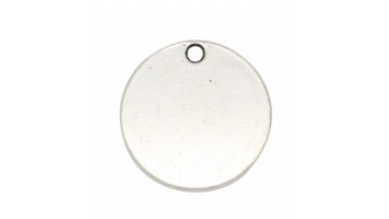 Base de estampacion chapita plateada silver 25 mm -