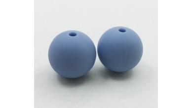 Bola de silicona 9 mm- Color Azul pastel 035