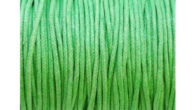 Cordon algodon 2 mm color verde manzana ( 1 metro)