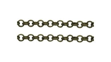 Cadena finita base bronce 2x2x1 mm  - 1 metro