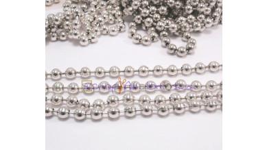 Cadena bolas bañada en plata- Bola 4.5 mm- Seccion 20 cm