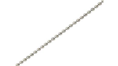 Cadena bolas bañada en plata- Bola 2.5 mm- 1 metro