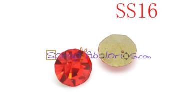 Chaton piramide cristal 4 mm color rojo (  16 uds)- SS16