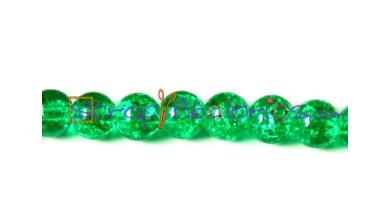 Bola verde cristal crackle 8 mm (50 uds)