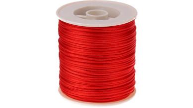 Cordon de saten 1 mm, color rojo ( 1 metro)
