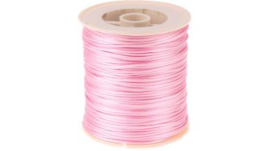 Cordon de saten 1 mm, color rosa claro ( 1 metro)