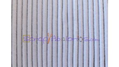 Cordon elástico redondo 1 mm color blanco (1 metro)