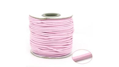 Cordon elástico redondo 2 mm color  rosa bebe ( 1 metro)
