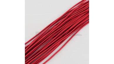 Cordon elástico redondo 2 mm color rojo ( 1 metro)