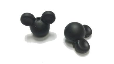 Cabezas de raton silicona 24x20x14 mm- Color Negro 44