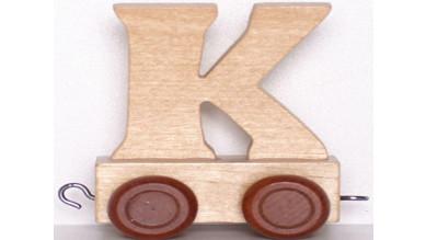 Articulo bebe - Tren de Letras - Letra K - 5x3.5x6 cm