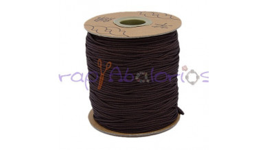 Cordon de nylon 1 mm macrame marrón oscuro ( 1 m)