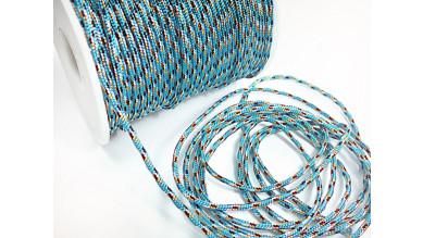 Cordón paracaidista 2.5 mm color azul/cobre  ( 1 metro)