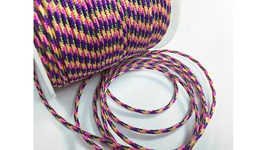 Cordón paracaidista 2.5 mm color rosa,azul, amarillo ( 1 metro)