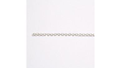 Cadena  rolo plata de ley 1,3 mm a metros (20 cm)