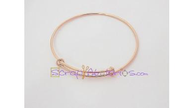 Base pulsera ORO ROSA expandible (anilla cerrada) Caña 65 mm