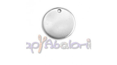 Colgante ZAMAK baño plata chapa lisa ideal para grabar 22  mm