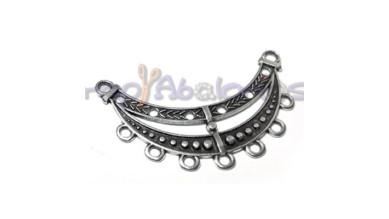 Accesorio ZAMAK baño plata collar colgantes 51x18 mm