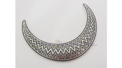 Accesorio ZAMAK baño plata collar  zigzag 51x18 mm