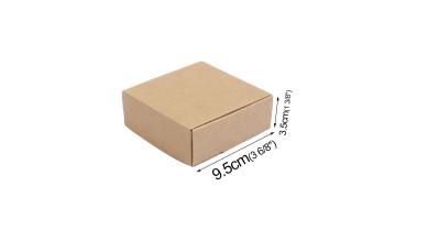 Cajita de cartón desmontada 9.5x9.5 cm- Kraft