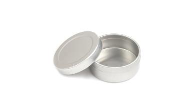 Cajita redonda de aluminio 4.6 cm ( grabar)