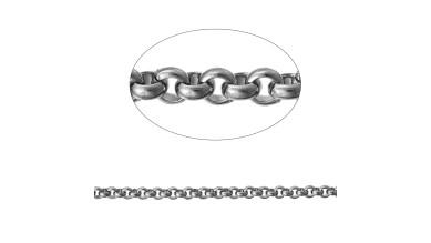 Cadena acero inoxidable rolo pequeño  2.5 mm (1 m)