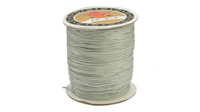 Bobina de cordon de nylon 0.8 mm macrame gris plata ( 120 m)