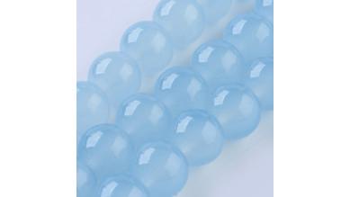 Hilera bolas de gema Jade Sintetico 6 mm color Azul cielo ( 67 pcs aprox.)