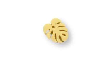 Plexy amarillo pastel - Colgante hoja tropical mostera peque 20x17 mm, int 1.5 mm