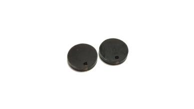 Plexy negro mate - Colgante circulo 16 mm, int 1.2 mm