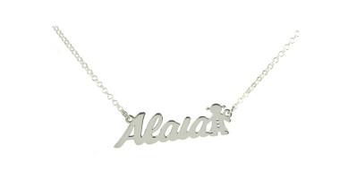 Collar plata de ley - Nombre personalizado con niña (POR ENCARGO )