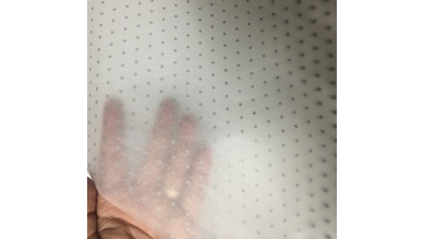 Papel de seda puntos plata 86x62 cm 17 g