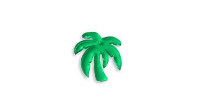 Plexy verde - Colgante palmera 23 mm, int 1.2 mm